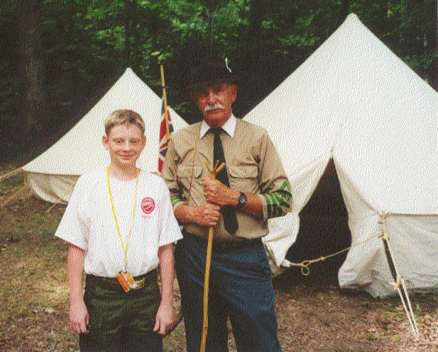 Nate speaks with 'Baden-Powell', founder of Scouting