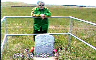 Susan Hail's new grave marker
